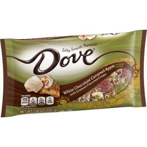 dove white chocolate caramel apple best new halloween candy