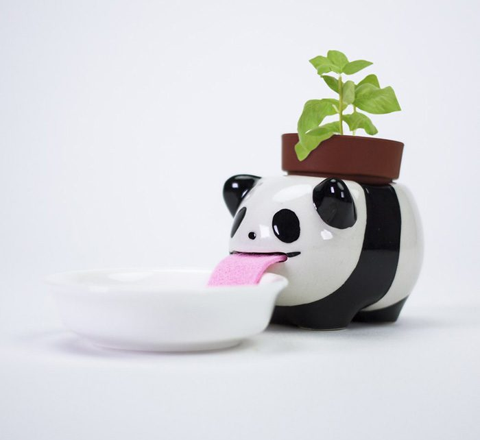 firebox drinking animal planters panda
