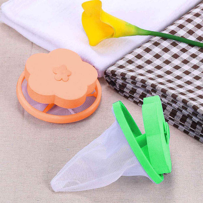 flower shaped lint pet hair catchers green orange