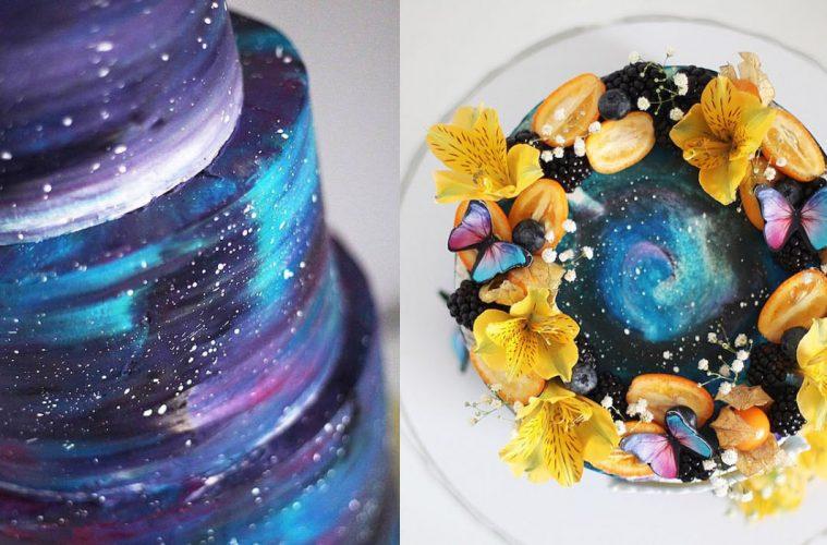 galaxy cakes