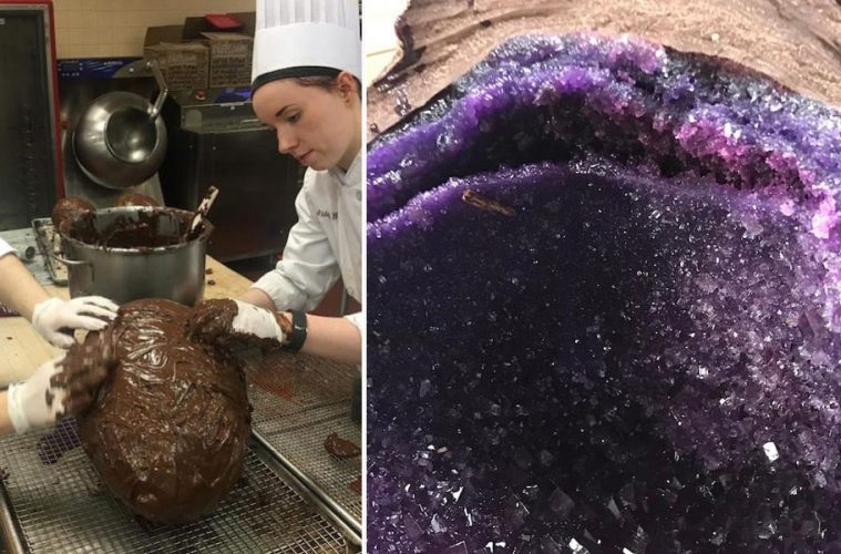 giant chocolate geodes