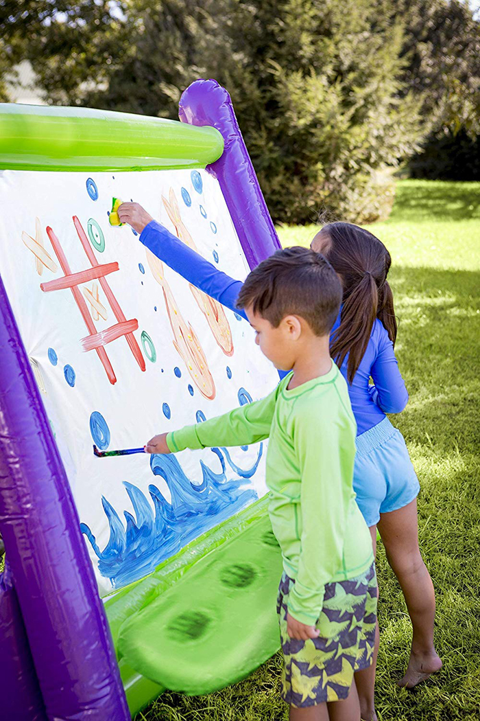 giant inflatable easel outdoor painting for kids