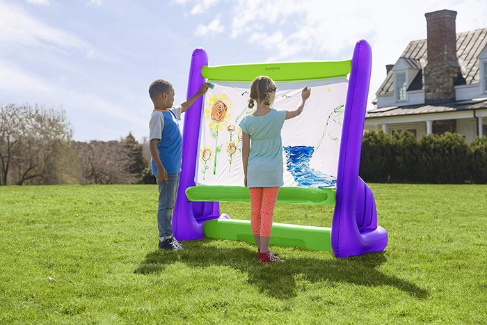 giant inflatable easel purple