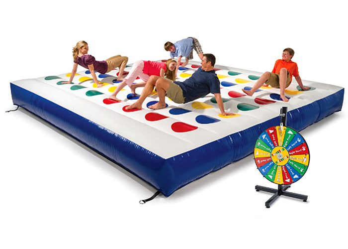 giant inflatable game of twister mat