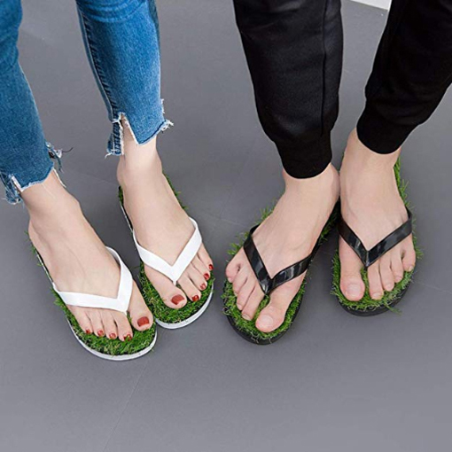 grass sandals artificial turf flip flops color options