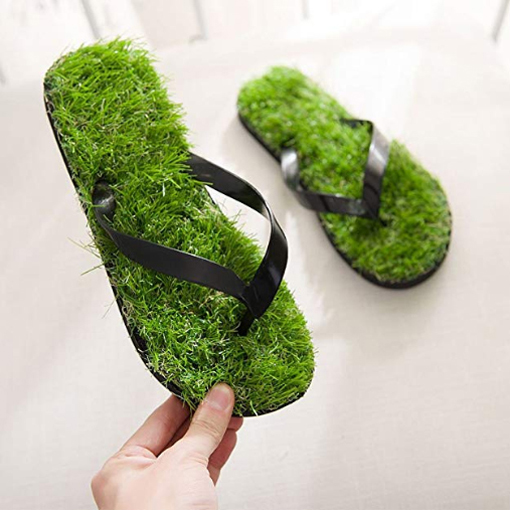 grass sandals artificial turf flip flops lightweight