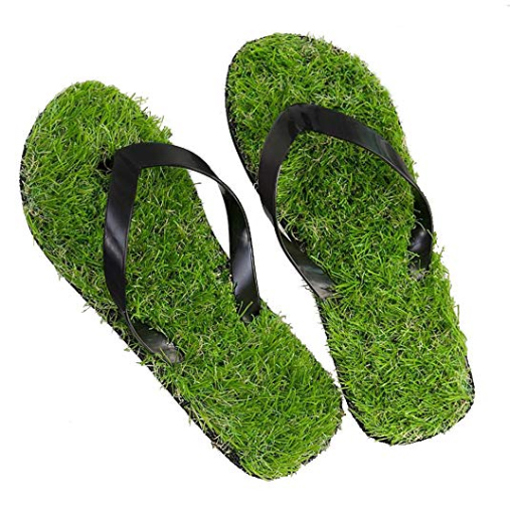 grass sandals artificial turf flip flops