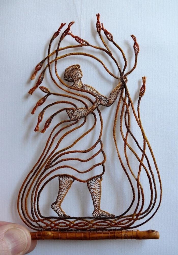 harvesting lace art agnes herczeg