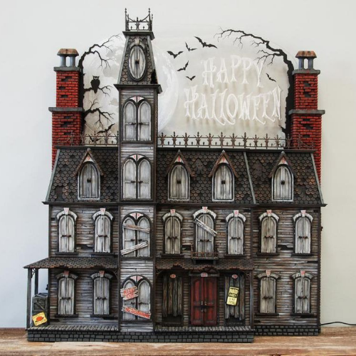 haunted house Halloween Advent calendars