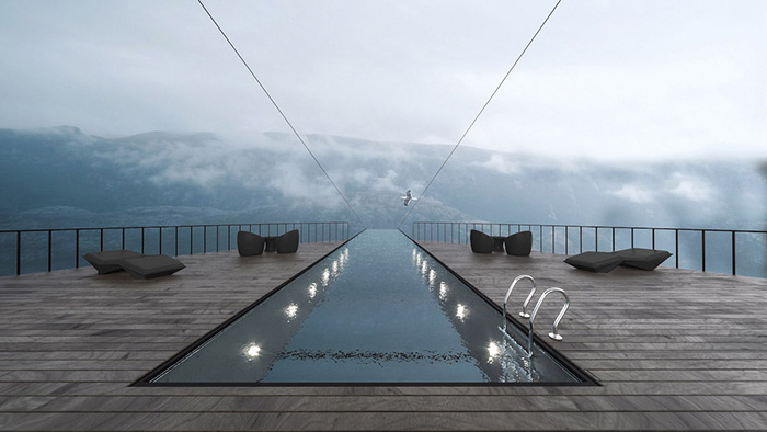 hayri atak cliff concept boutique hotel hovering glass pool