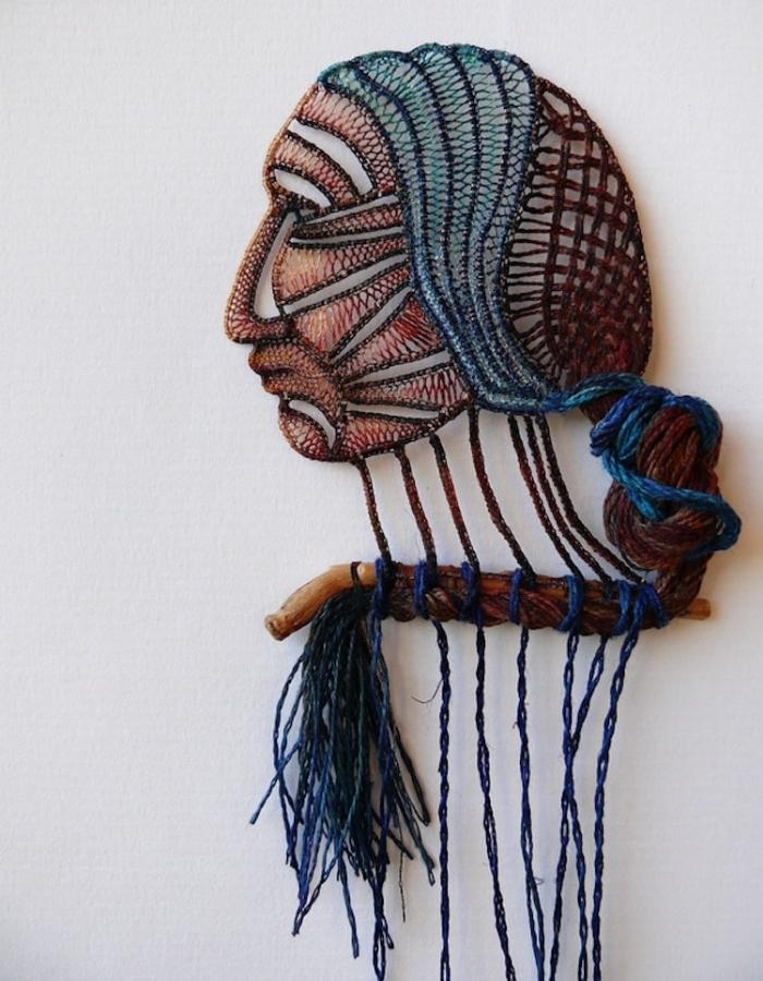 human face lace art agnes herczeg