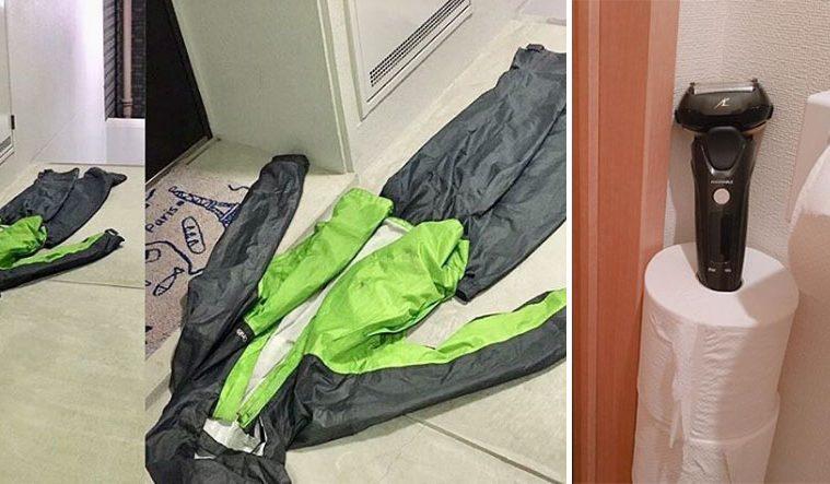 husbands leaving things on floor