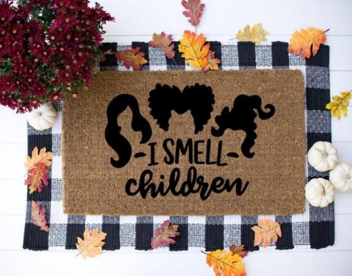 i smell children doormat halloween party decoration ideas