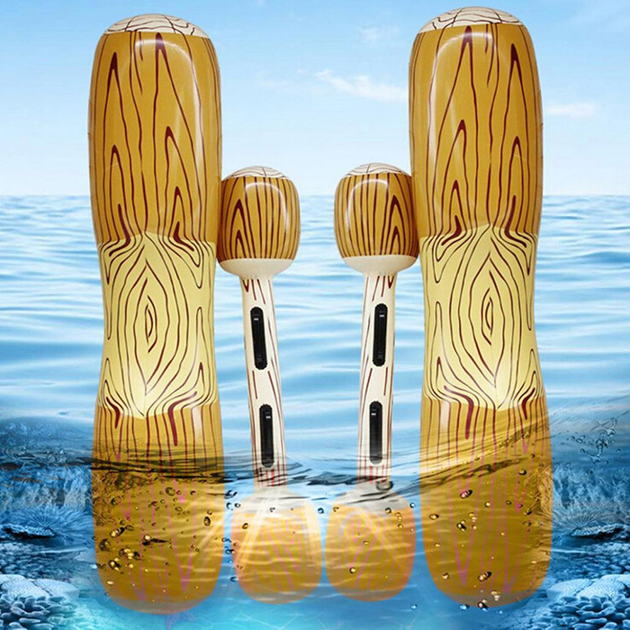 inflatable log flumes sticks 3d pattern