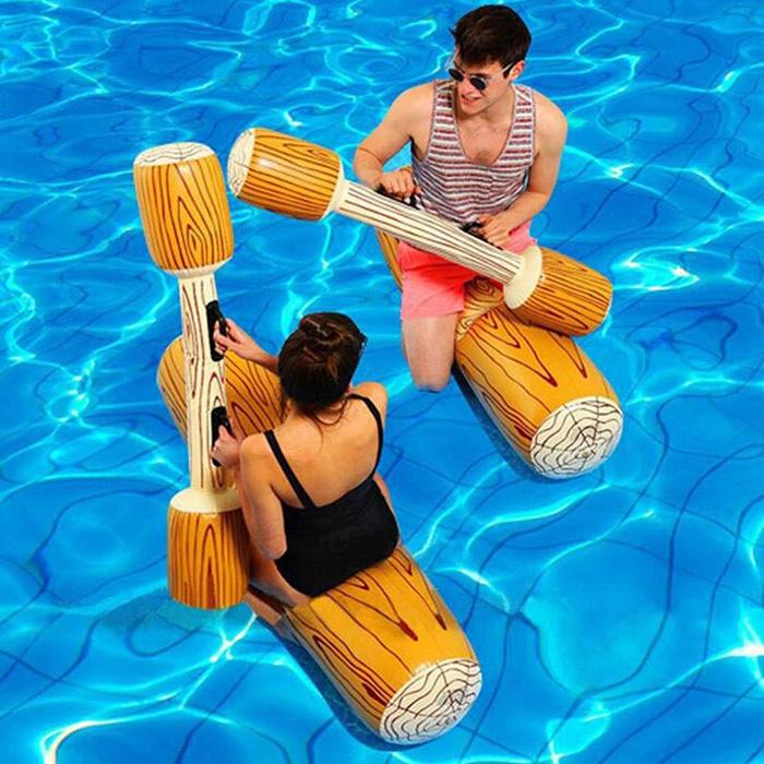 inflatable log flumes sticks