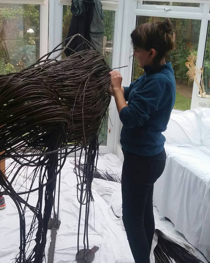 interweaving outdoor sculptures anna and the willow