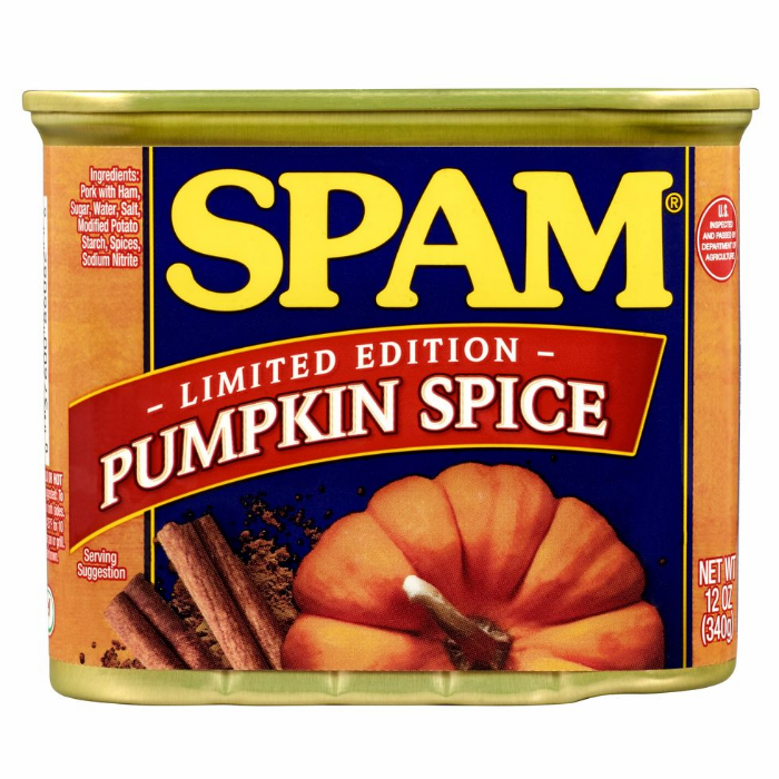 is pumpkin spice spam real