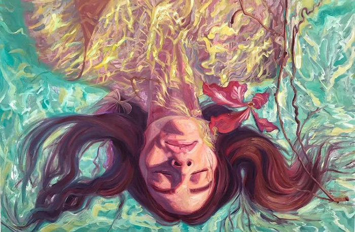 isabel emrich underwater oil paintings energetic brushstrokes