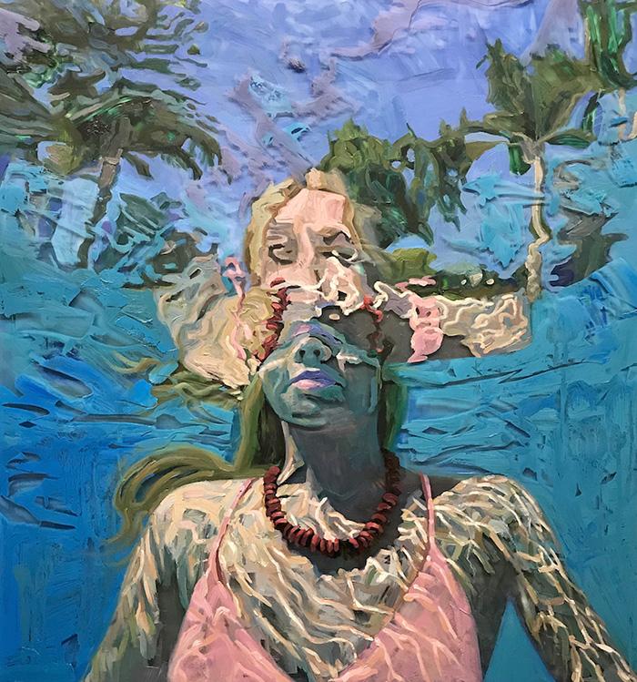 isabel emrich underwater oil paintings fluid brushwork
