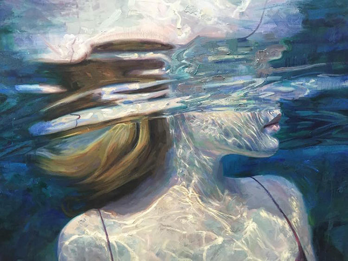isabel emrich underwater oil paintings light refraction