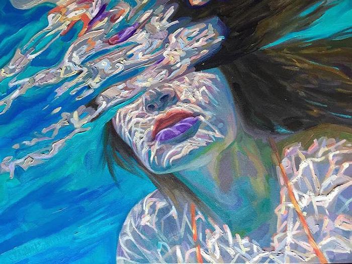 isabel emrich underwater oil paintings ripples