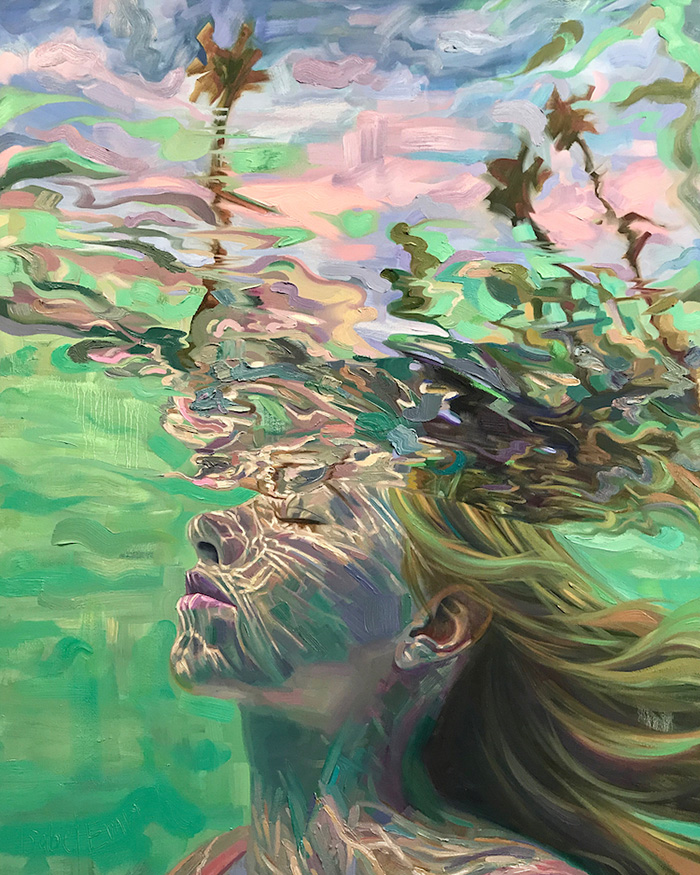 isabel emrich underwater oil paintings tranquil water