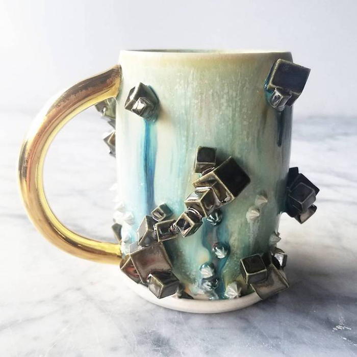 katie marks spectacular coffee mugs cube crystals