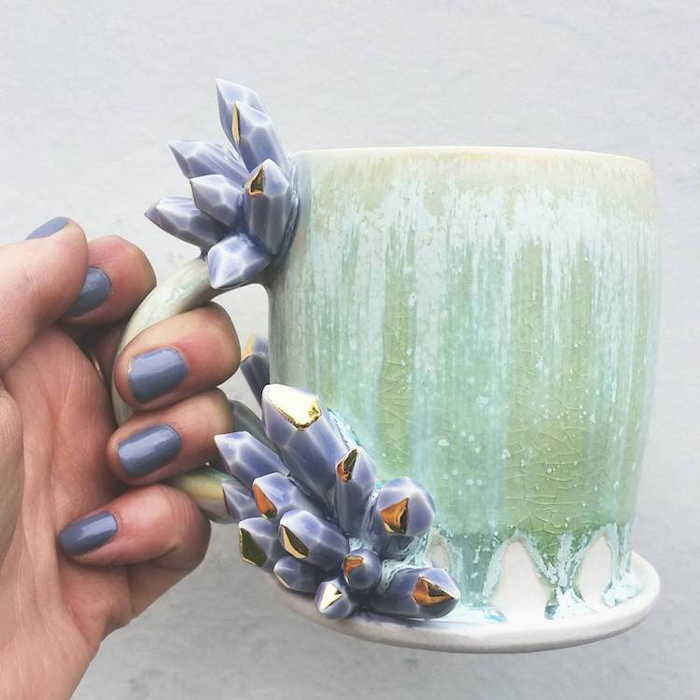 katie marks spectacular coffee mugs silver lining ceramics
