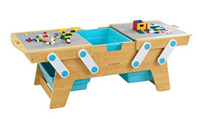 kidkraft lego compatible play n store table