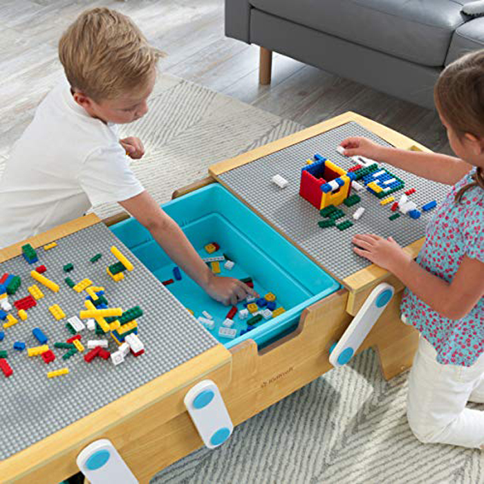 kidkraft lego compatible table center bin