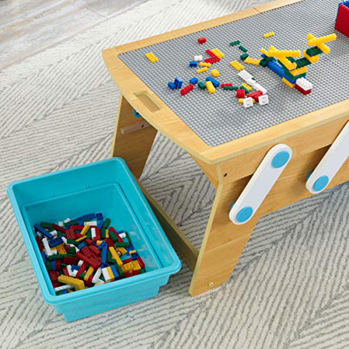 kidkraft lego compatible table collapsible bins