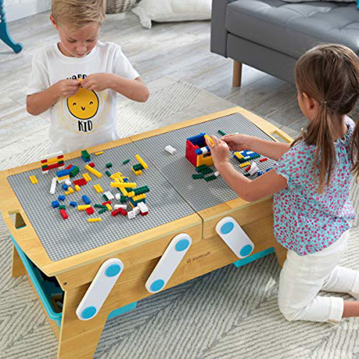 kidkraft lego compatible table movable tabletop
