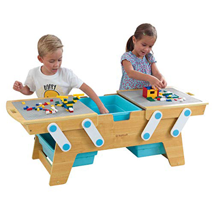 kidkraft lego compatible table play and store