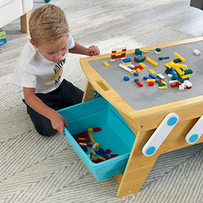 This Lego Compatible Table Helps Keep The Bricks Safely