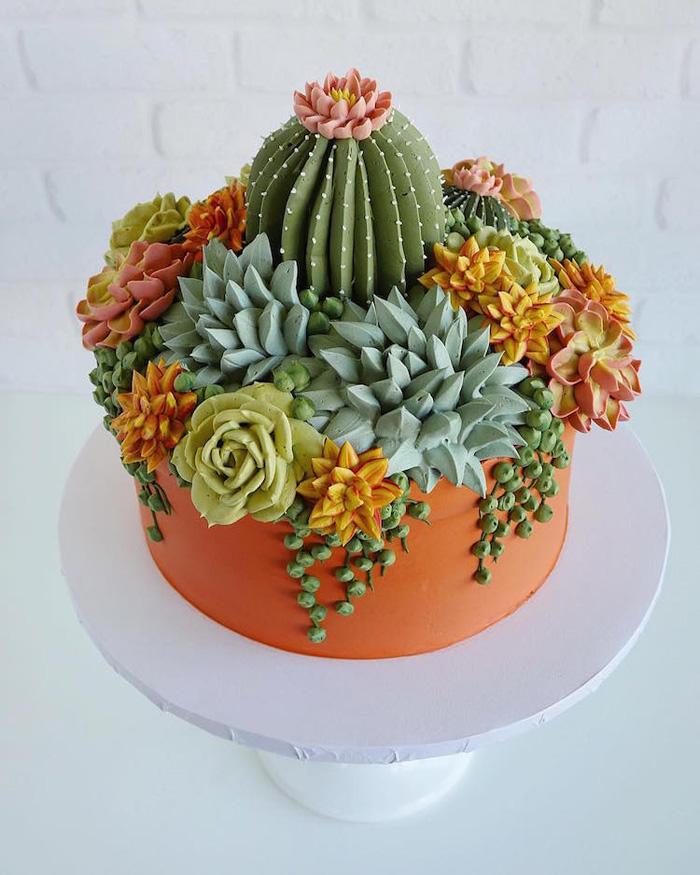 leslie vigil realistic buttercream botanicals potted cacti