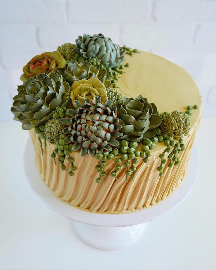 leslie vigil realistic buttercream botanicals succulents