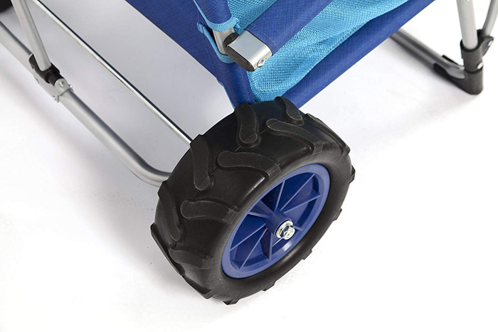 mac sports 2-in-1 beach lounger rugged wheels