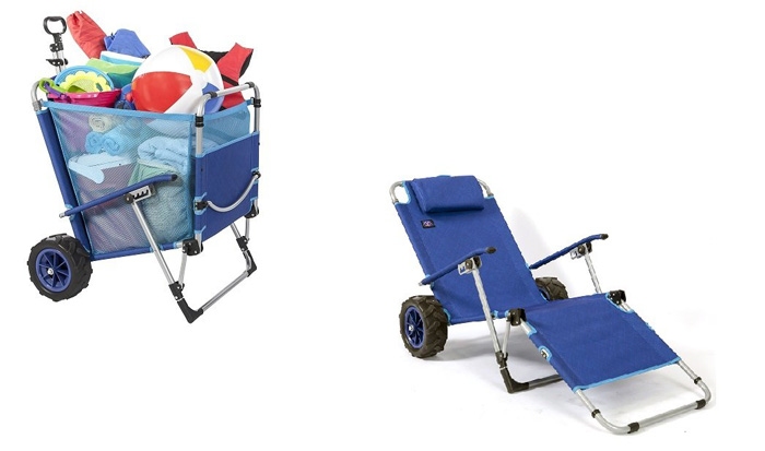 mac sports 2-in-1 beach lounger wagon