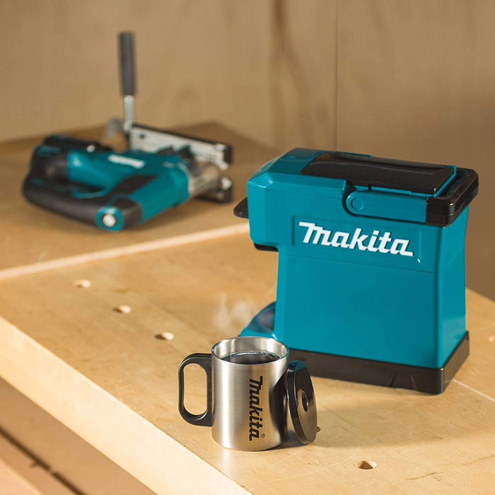 makita job site coffee maker battery powered