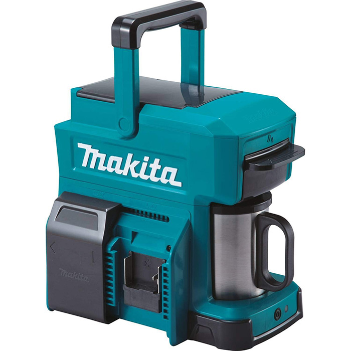 makita job site coffee maker blue