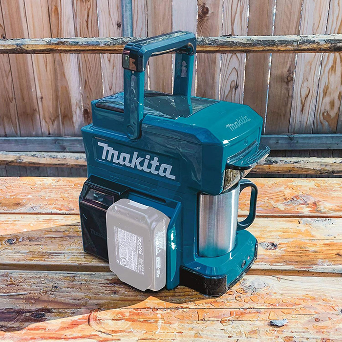 makita job site coffee maker cordless