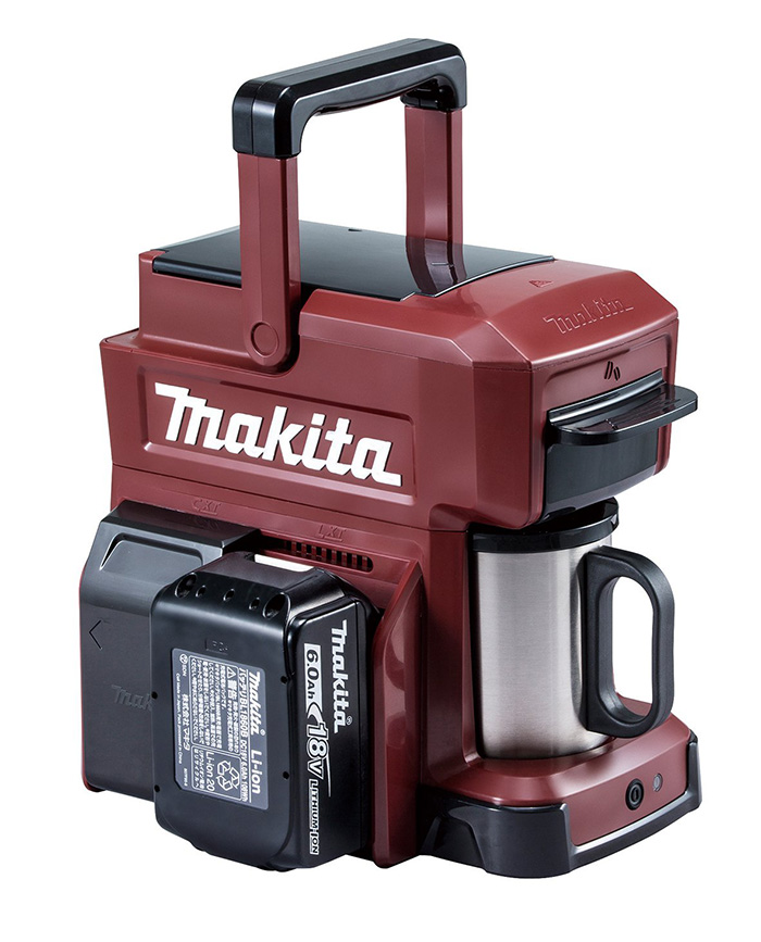 makita job site coffee maker red