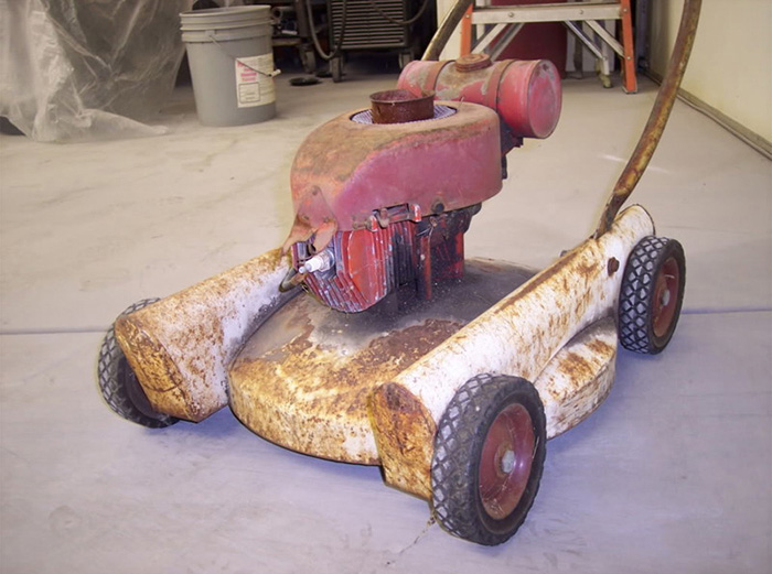 mark moriarty restores old lawn mower