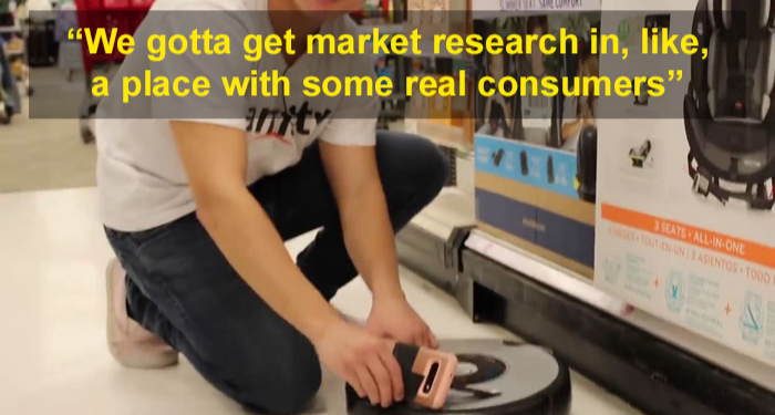 market research at Target roomba swears when bumps into stuff michael reeves