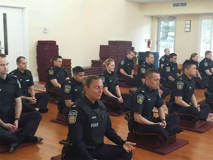 meditating police before work funny meanwhile in canada pictures