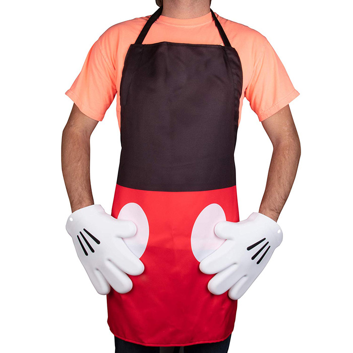 mickey mouse oven gloves apron