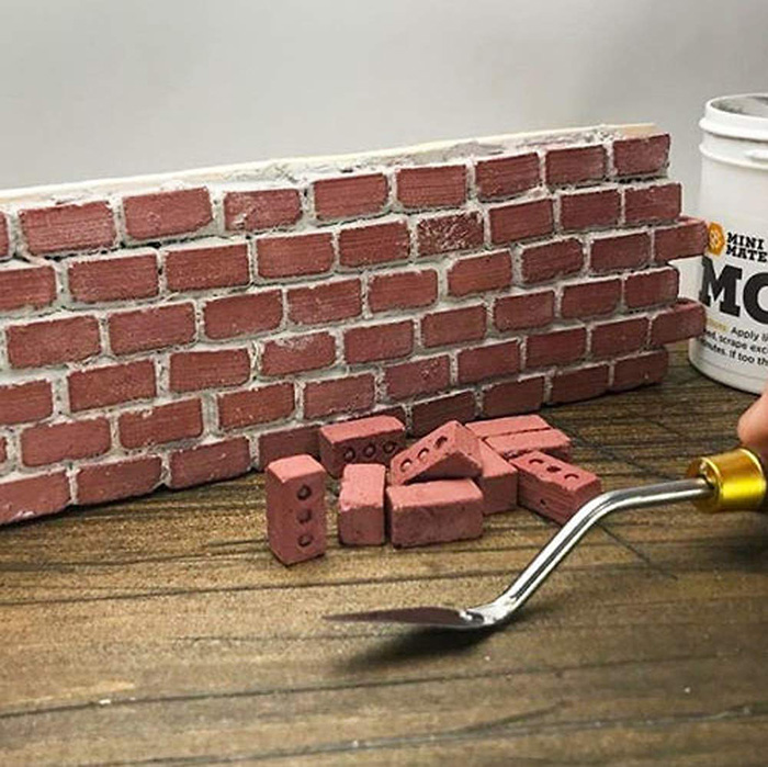 mini cement bricks and mortar construction