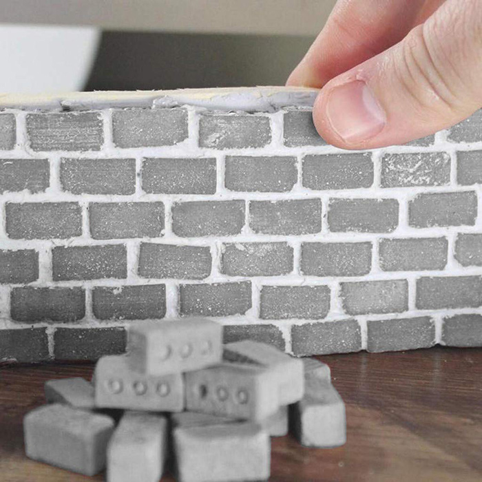 mini cement bricks and mortar