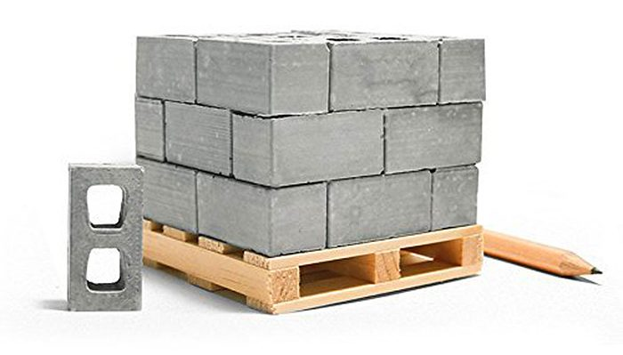 mini cement bricks gray
