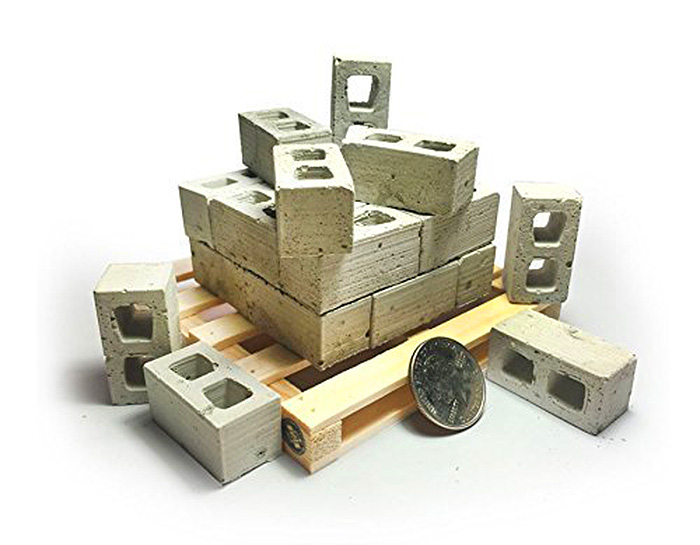 mini cement bricks gray miniature